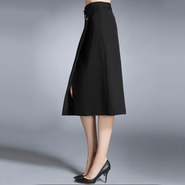 Women's Long Elegant Black Skirt For Semi Formal or Casual Wear in Small to XXL Sizes
