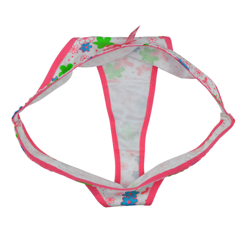 6 Pieces of Women's Sexy Multi-color Cotton Panties with Various Patterns