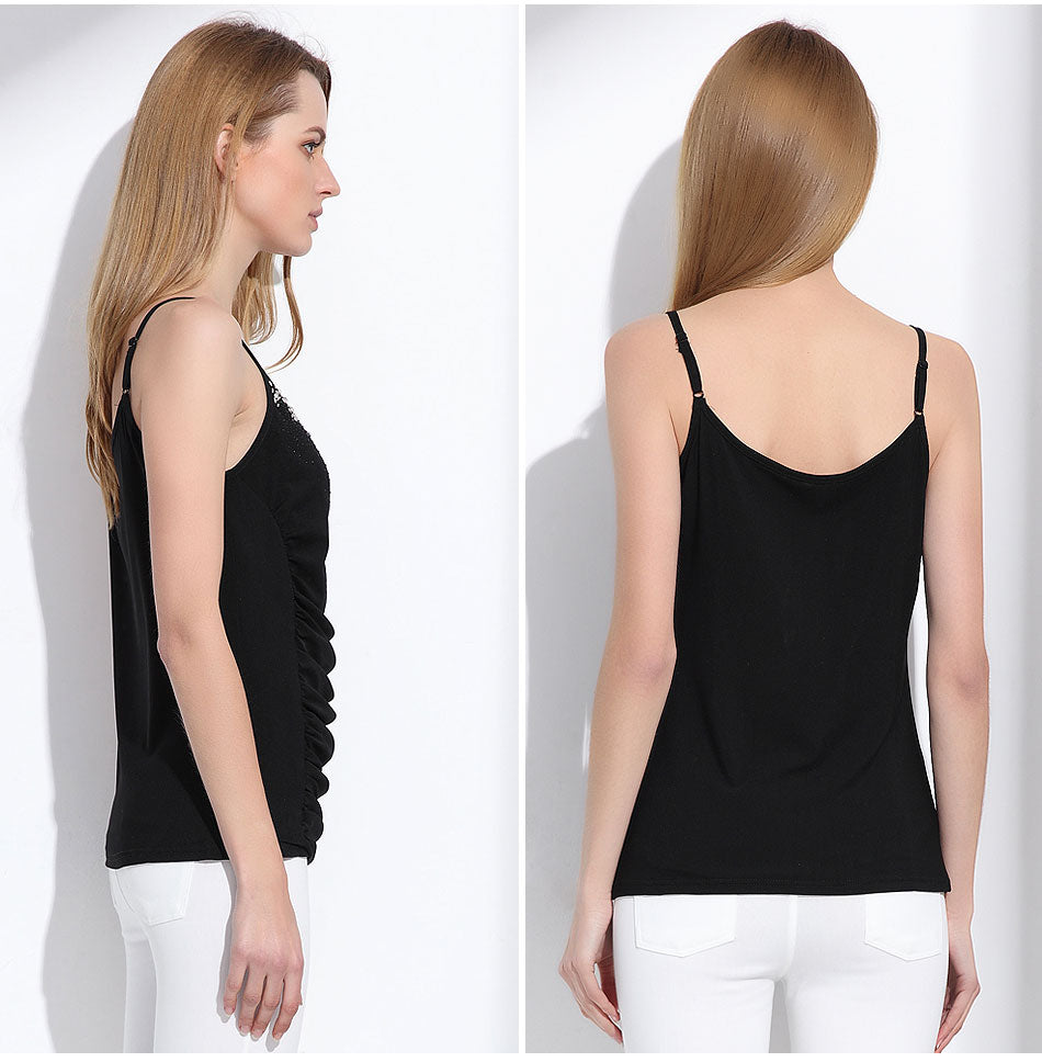 Women's Slim Summer Camisole Tank Tops with Beading