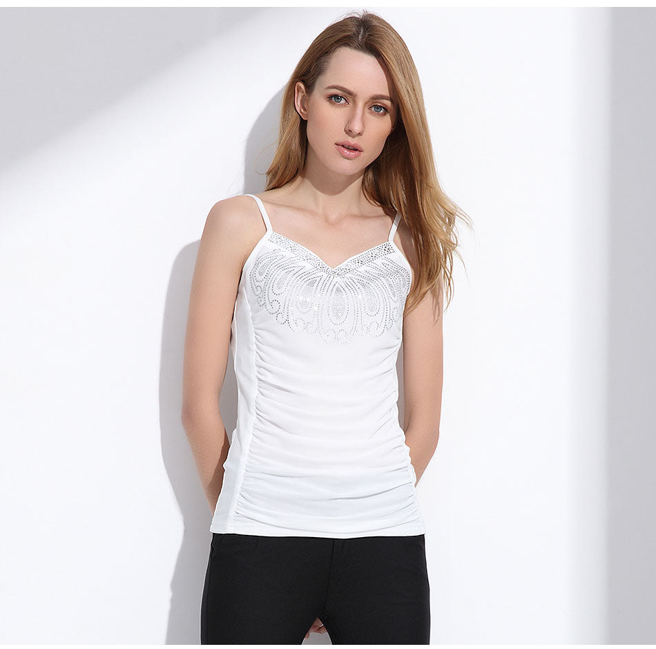 Women's Sexy and Cute Camisole Tank Top in white color