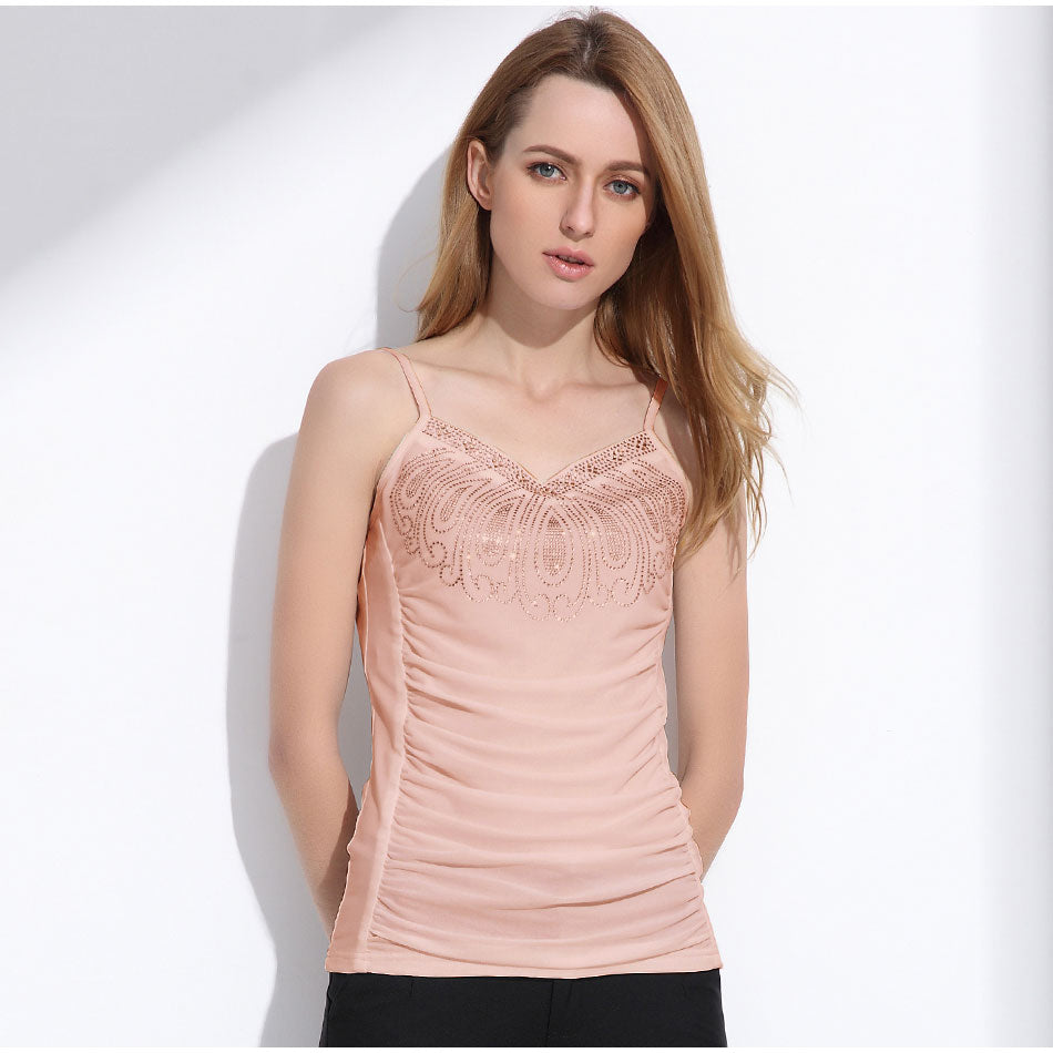 Women's Sexy and Cute Camisole Tank Top in Pink color