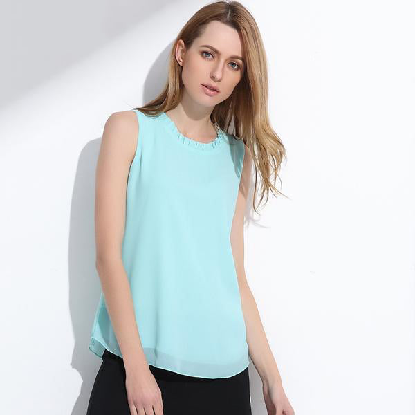 Women s Summer Chiffon Tank Tops in Cool 11 Colors – Dreams  Lane 9ada1c086603
