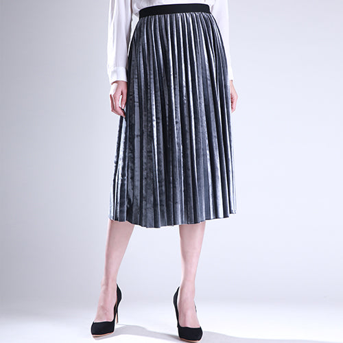 7 Colors of Women's Skirt Pleated High Waist Long Lanon Fabric Skirts for Autumn and Winters