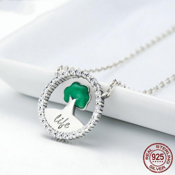 Grow with the Life - A cute Pendant Necklace for Women, Crafted from Silver