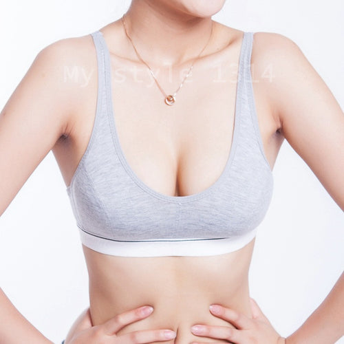 Women's Comfortable 100% Cotton Bust Push Up Bra  in 3 Colors and 4 Sizes