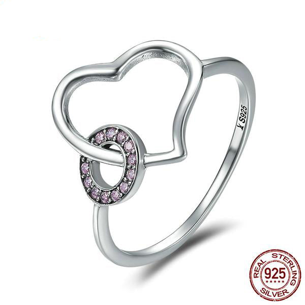 Lovely Ring of Love Designer Ring and Earring Set, Crafted from Silver and Beautiful Crystals