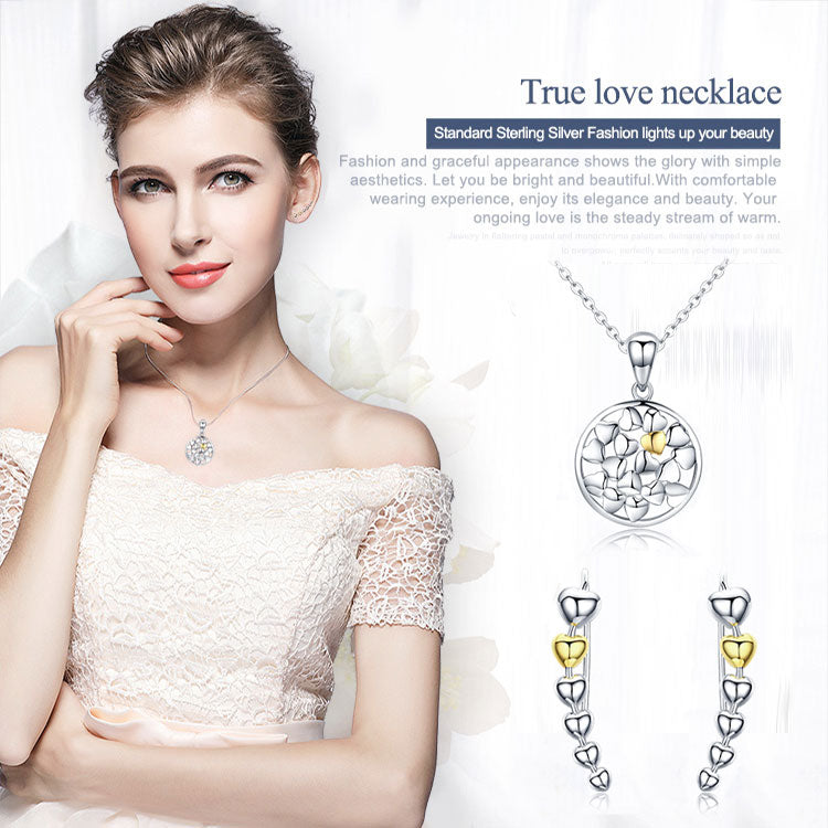 Elegance in Simplicity - Jewelry Set with with Eye-catching  Beautiful Arrangements of Hearts
