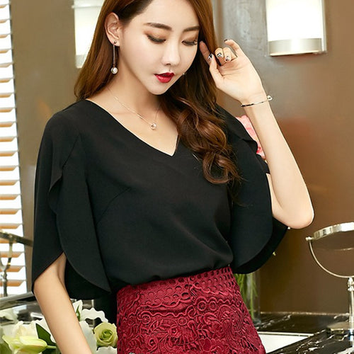 Elegant Chiffon Summer Blouse for Women in 3 Colors