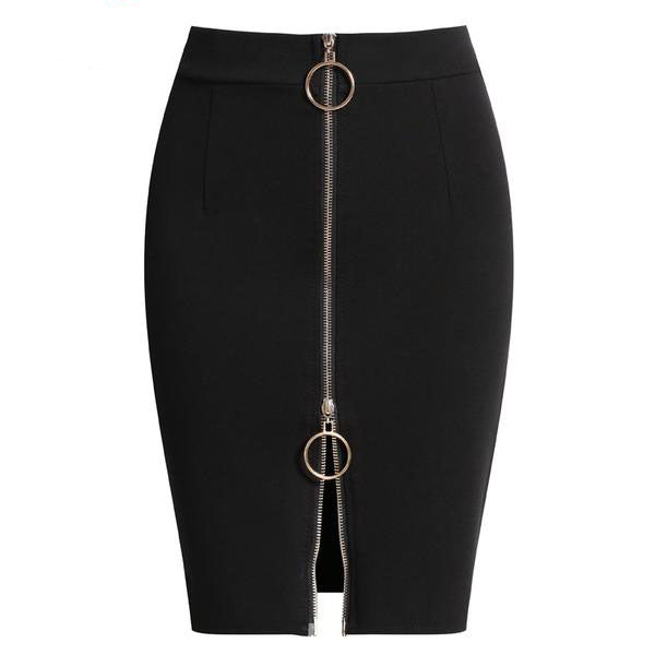 f58f5fa5ed Women's High Waist Elegant Above Knee Red and Black Pencil Skirt in Small  to Plus Sizes