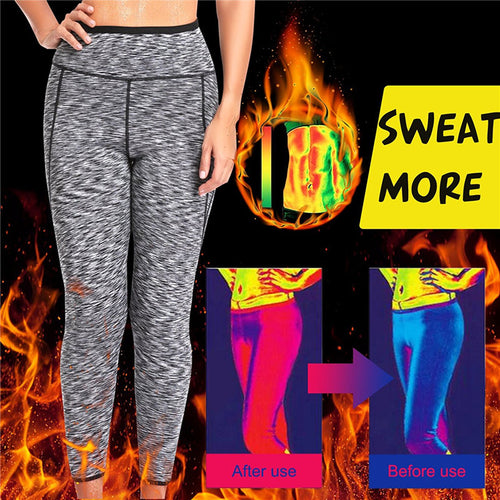 Women's Weight-loss Workout Pants with Neoprene for More Sweating
