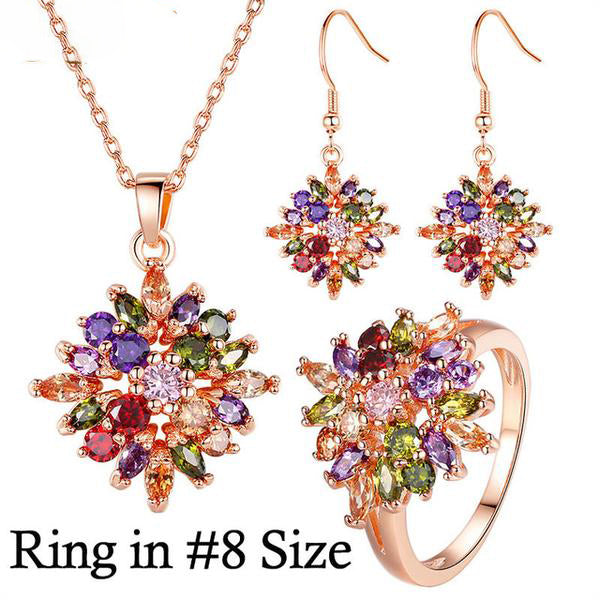 The Colorful Life - Eye catching Gold Plated Gorgeous Jewelry Set for Women