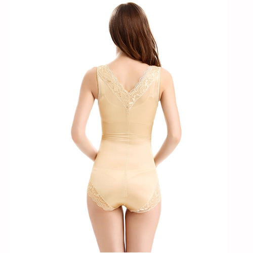 2 colors of Women's Sexy Elastic Waist Trainer Slimming Bodysuit