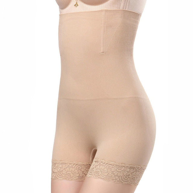 A Set of 2 Numbers of Women's Sexy High Waist Control Panties for Belly and Hips Shaping in 4 Colors
