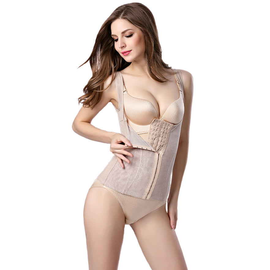 Women's New Fashion Sexy Thin Waist Corset Bodysuits - A Set of 2 Pieces