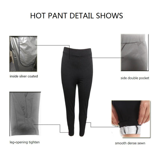 Women's Hot Sweat Shaper Silver Plated Slimming Workout Pant