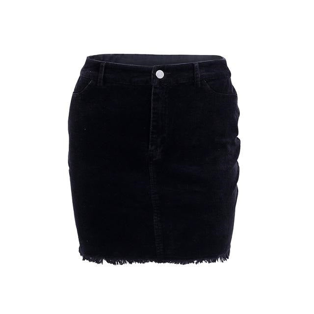 Women's Elegant Corduroy Pencil Mini Skirts in 3 Colors
