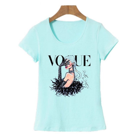 2 Designs of Cool Short Sleeves 100% Cotton T-Shirts for Girls