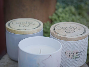 Soy Wax Candle Ceramic Jars