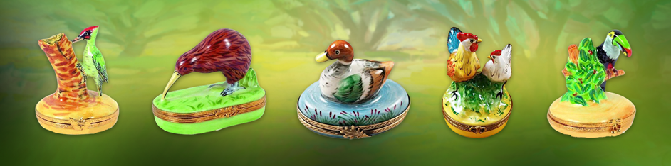 Bird Limoges Boxes Porcelain Figurines Keepsake Gifts