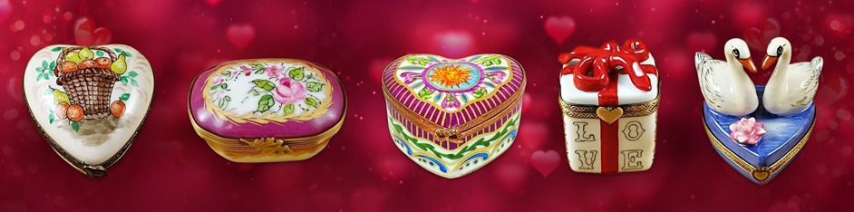 Valentine's Day Limoges Boxes Gifts Collector