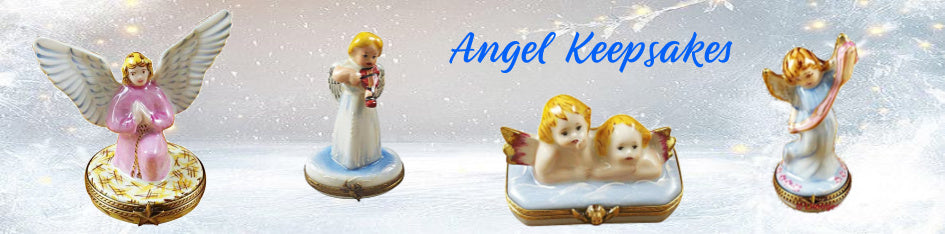Angel Porcelain Figurines Limoges Boxes Keepsake Gifts