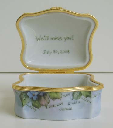 Personalized Inscribed Limoges Boxes