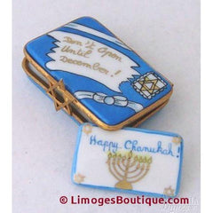 Happy Chanukah Limoges Porcelain Boxes Gifts
