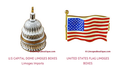 Patriotic Limoges Boxes  - French Porcelain