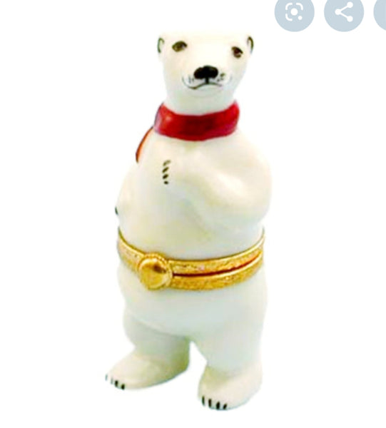 Polar Bear Limoges Box