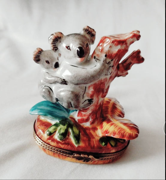 Koala With Baby Limoges Box