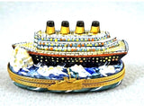 Titanic Boat Limoges Box - Overstock item - Very Well Detailed - You won't be disapointed on this one