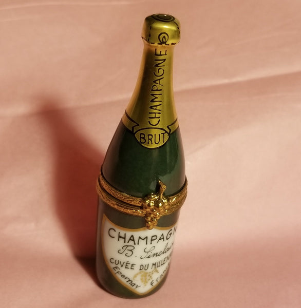 Brut Champagne Bottle Limoges Box  - Made by Artoria for Sinclair