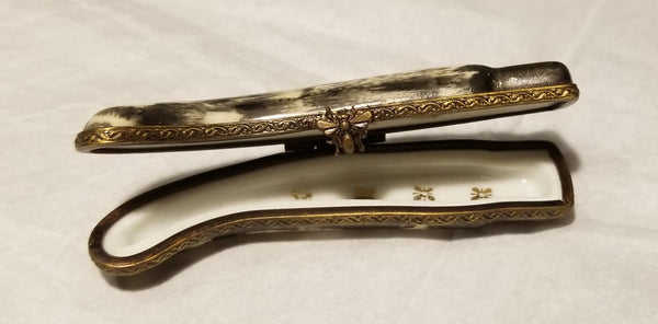 Pocket Knife Limoges Box - Rare