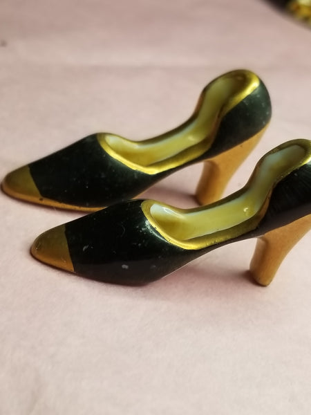 2 Black Gold Shoes -  Goodie Trinket