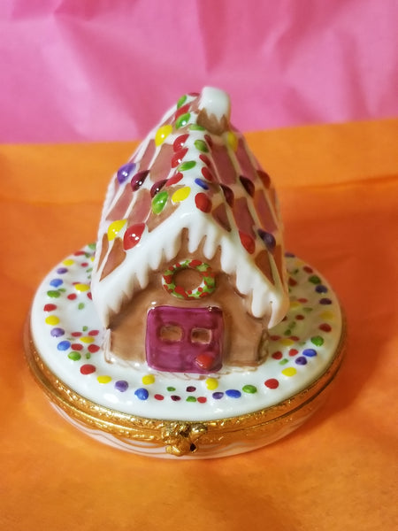 Gingerbread House Limoges Box RETIRED LAST ONE)