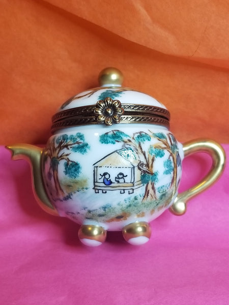 Oriental Teapot China French France Limoges Box