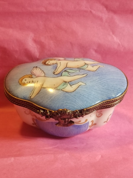 Cherub Angel Traditional  Limoges Box