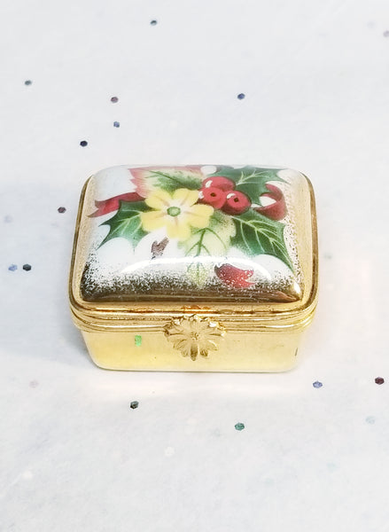 Christmas Holiday Trinket Artoria Retired Limoges Box - Rehausse