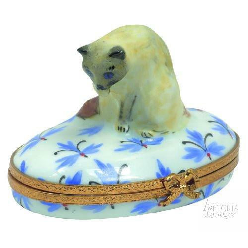 Cat Blue Point Birman - Limoges Boxes Porcelain Figurines
