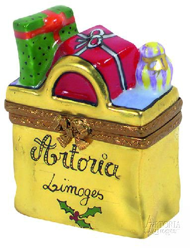 Christmas Shopping Bag - Merry Limoges Box - NEW from Artoria