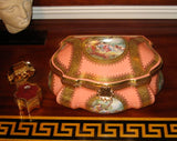"Large Lt Peach Chest - Louvre JEWELRY BOX - First one Made 1 of 50 Limited Edition - Penicaud - EXTREMELY RARE - Limoges Box - 9"" x 7"" x 5"""