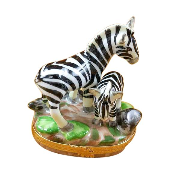 ZEBRA AND BABY LIMOGES BOXES BOUTIQUE