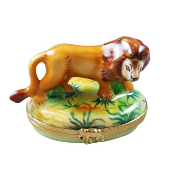 Lion Wild Rochard Porcelain Limoges Boxes