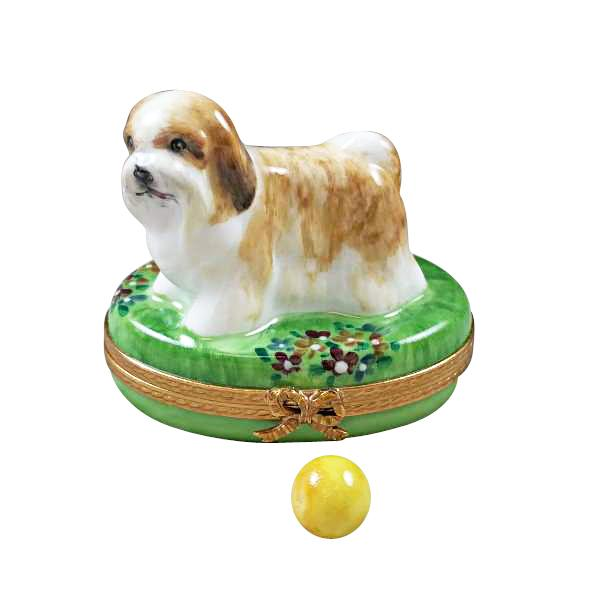 SHIH TZU GREY LIMOGES BOXES BOUTIQUE