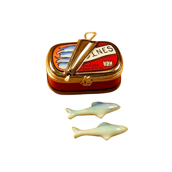 Sardines Fish Can Limoges Box