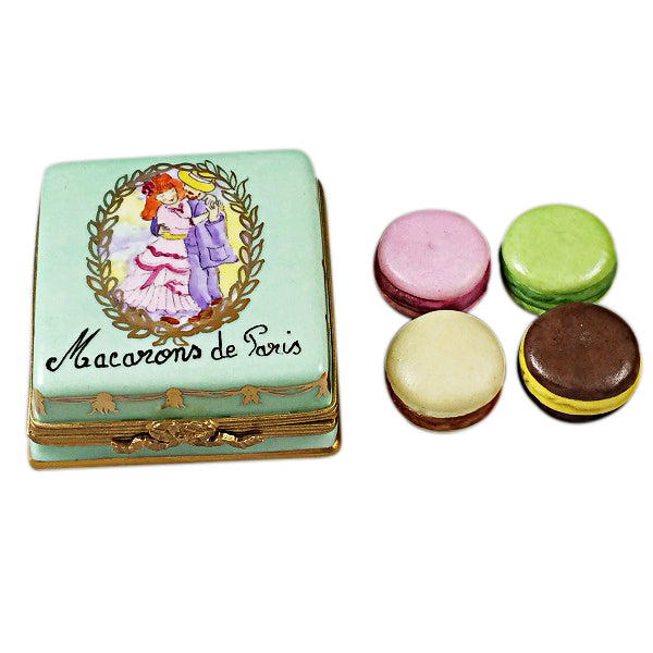 French Macarons de Paris Dessert Limoges Boxes - Limoges Boxes Porcelain Figurines