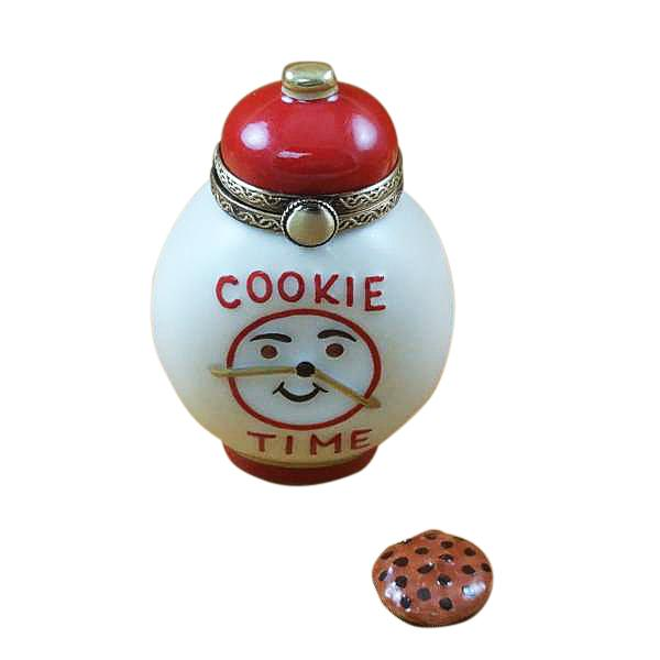 COOKIE TIME JAR WITH REMOVABLE COOKIE LIMOGES BOXES - Limoges Boxes Porcelain Figurines