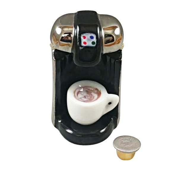 """R"" CUP COFFEE MAKER WITH REMOVABLE COFFEE CUP AND ""R"" CUP LIMOGES BOXES - Limoges Boxes Boutique"