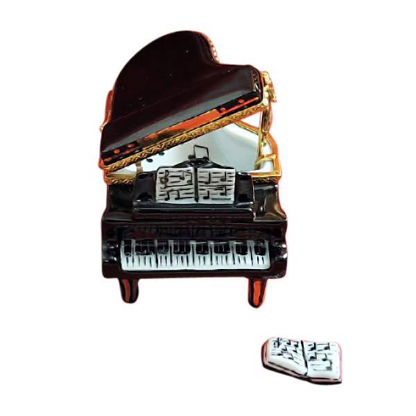 Black Grand Piano w Music Book Limoges Box