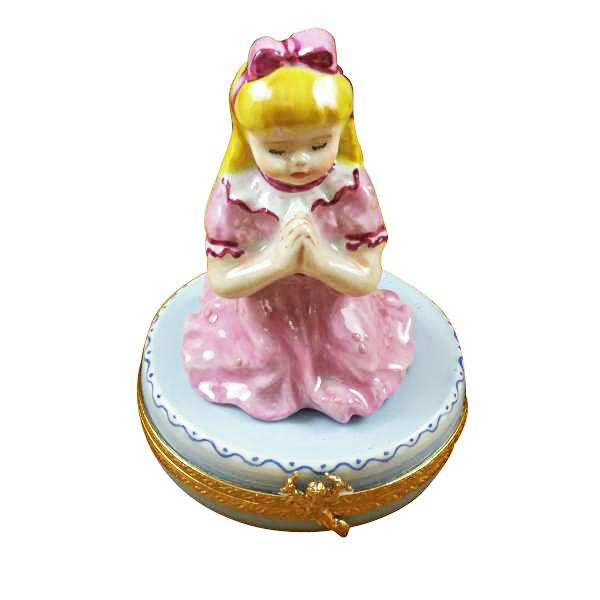 BLOND GIRL PRAYING LIMOGES BOXES - Limoges Boxes Boutique